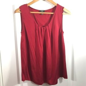 Talbots 92% Silk Red Tank Top Size 8